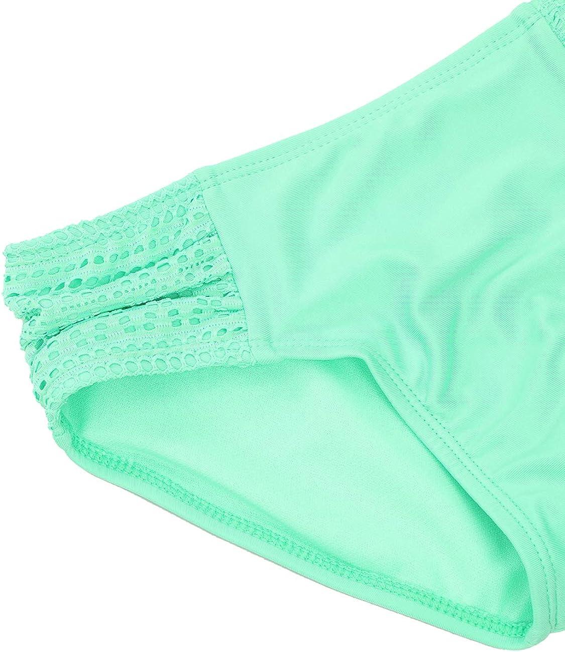 DUSISHIDAN Girls Two Pieces Tankini Swimsuits Ruffle Lace Swimwear Bathing Suit