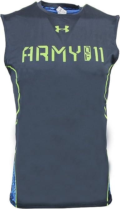 Puntualidad tolerancia palanca  Amazon.com: Under Armour Men's UA Army Of 11 Sleeveless Compression Shirt  X-Large Wire: Clothing