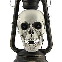 Atkobac Halloween Decor Props LED Skull Lantern
