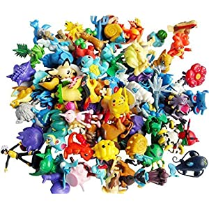 24 Random & Unique Pokémon Anime Action Figure Cupcake Toppers with Bonus HiperSpeed Pokémon Go Guide - 61Na3Q7RodL - 24 Random & Unique Pokémon Anime Action Figure Cupcake Toppers