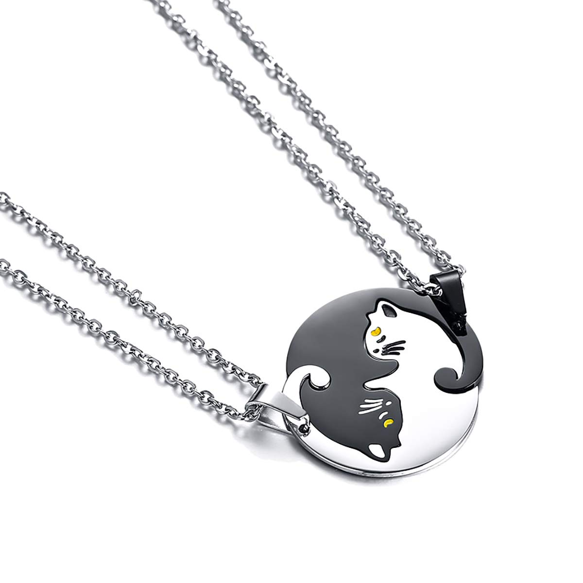 Housweety 2 Pcs Collier dAmiti/é Forever Collier Best Friend Pendentif Coeur Briser Couple Puzzle Pandas pour Femme Fille