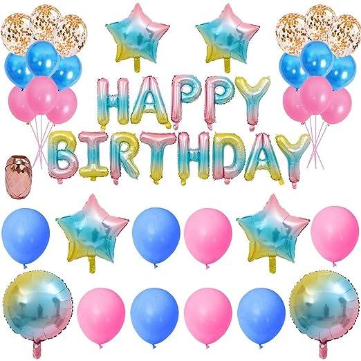 Nuoshen 35 piezas de decoraciones de feliz cumpleaños ...
