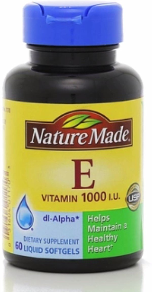 Nature Made dl-Alpha Vitamin E 1000 IU Softgels 60 ea (Pack of 10)