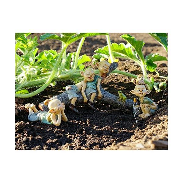 Top Collection Miniature Fairy Terrarium Garden Pixie Gardening Statue With Shovel Bucket Small