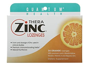 Amazon Com Thera Zinc Lozenges Orange Quantum 24 Lozenge Health