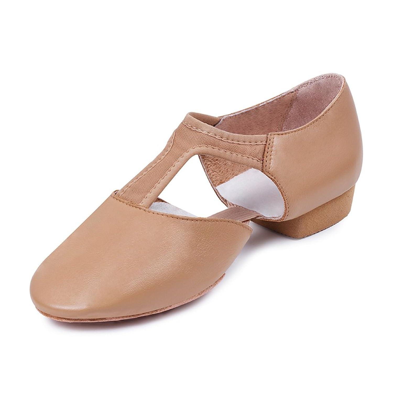 Bloch Women's Elastosplit Grecian Teaching Dance Shoes, Beige Leather, 11.5 M