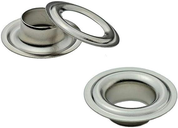 /Ø 10 mm /Œillets DIN 7332 16 mm acier Ista Tools banni/ère acier inoxydable /œillet de b/âche laiton
