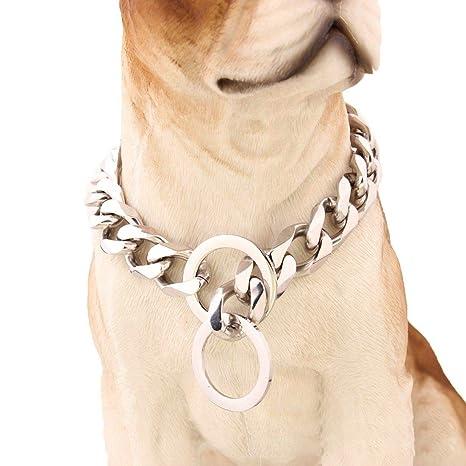 Cuerda de tracción.Collar de perro espejo pulido acero ...