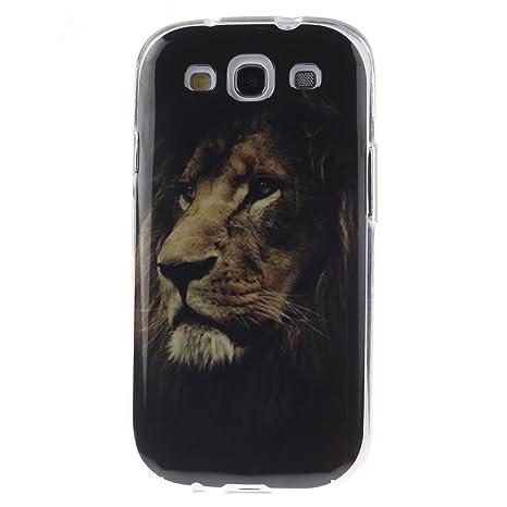 Guran® Silicona Funda Carcasa para Samsung Galaxy S3 i9300 / S3 Neo Smartphone Case Bumper Shock TPU Cover-León
