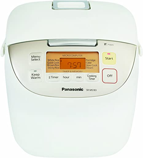 Panasonic SR-MS183 Color blanco - Arrocera (3,4 kg): Amazon.es: Hogar