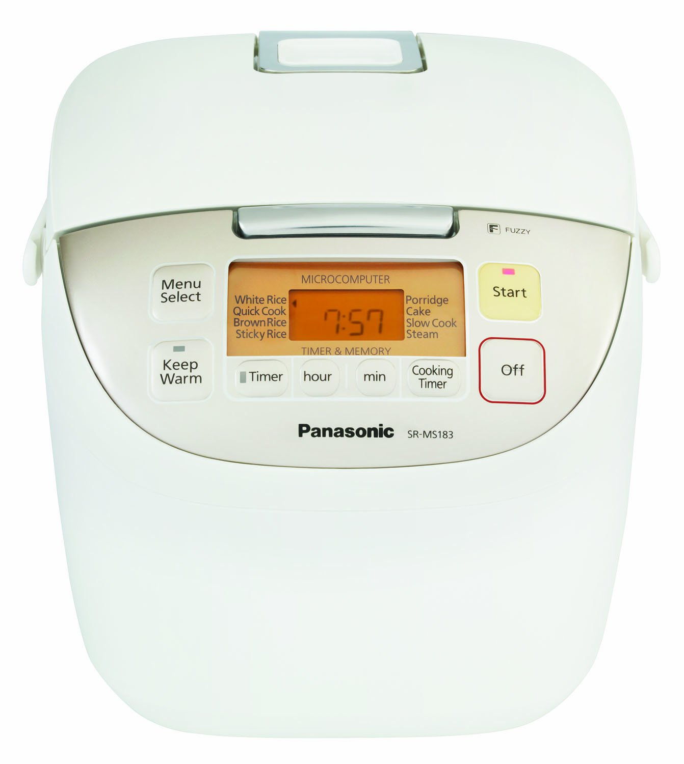 "Panasonic SR-MS183 10-Cup (Uncooked) ""Fuzzy Logic"" Rice Cooker"