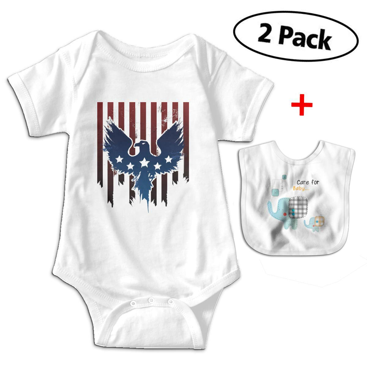 Amazon.com  Funny Eagle Flag Toddler One-Pieces Bodysuit with Free Baby  Bibs  Clothing 499920521