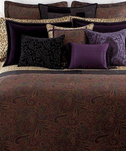 Ralph Lauren New Bohemian Beaded 15 by 20 Inch Throw Pillow, Black