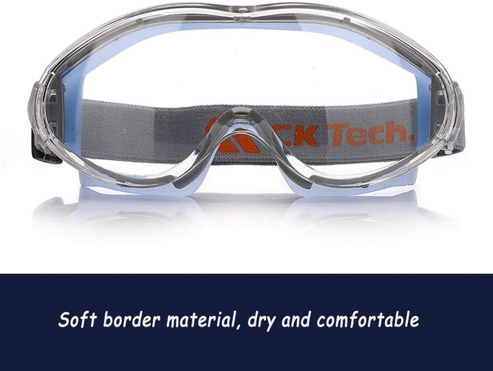 QQRH Gafas de Seguridad Lentes de protección Gafas Protectoras Lentes de Seguridad antivaho para Laboratorio,Agricultura,Industria Gafas Transparentes antivaho y antiarañazos