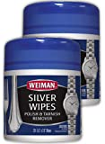 Weiman Silver Polish & Tarnish Remover Wipes 20 Count 2 Pack