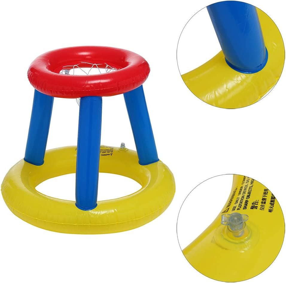 Amazon.com: Transer - Aro flotante de baloncesto hinchable y ...