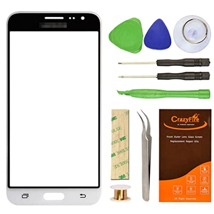 Amazon.com: Samsung Galaxy J3 J320F White Replacement Screen Lens ...