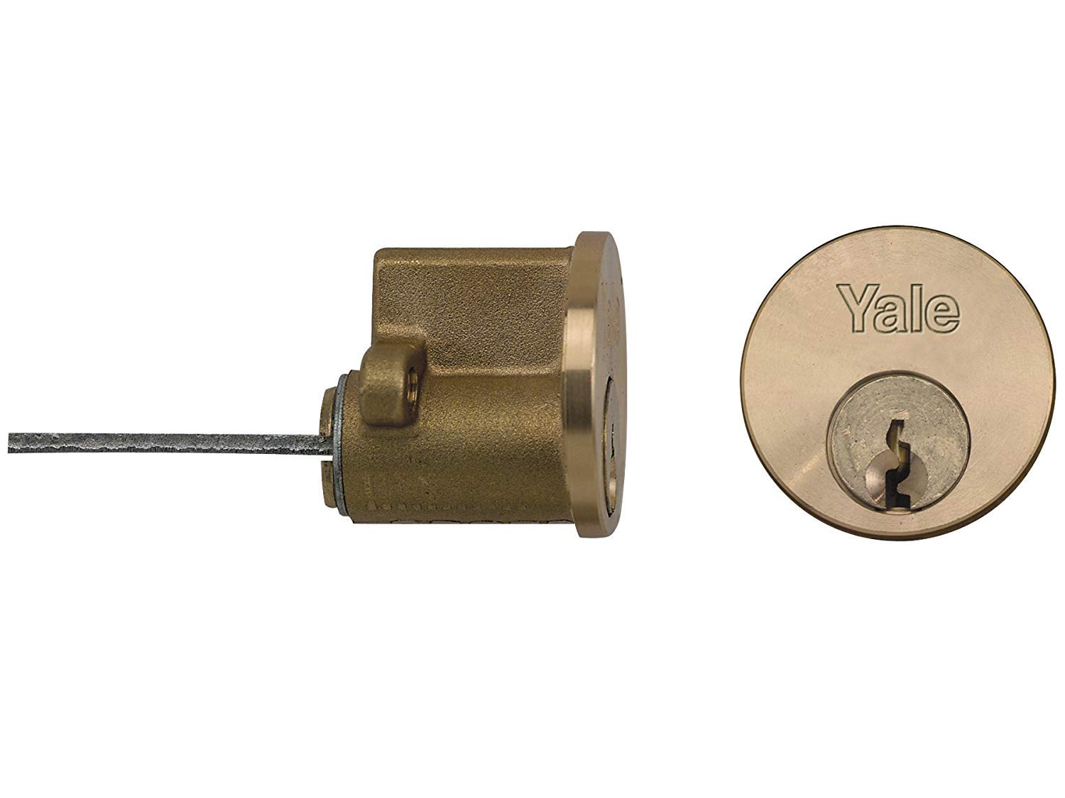 Yale Locks P1109 Replacement Rim Cylinder 6 Keys Polished Brass