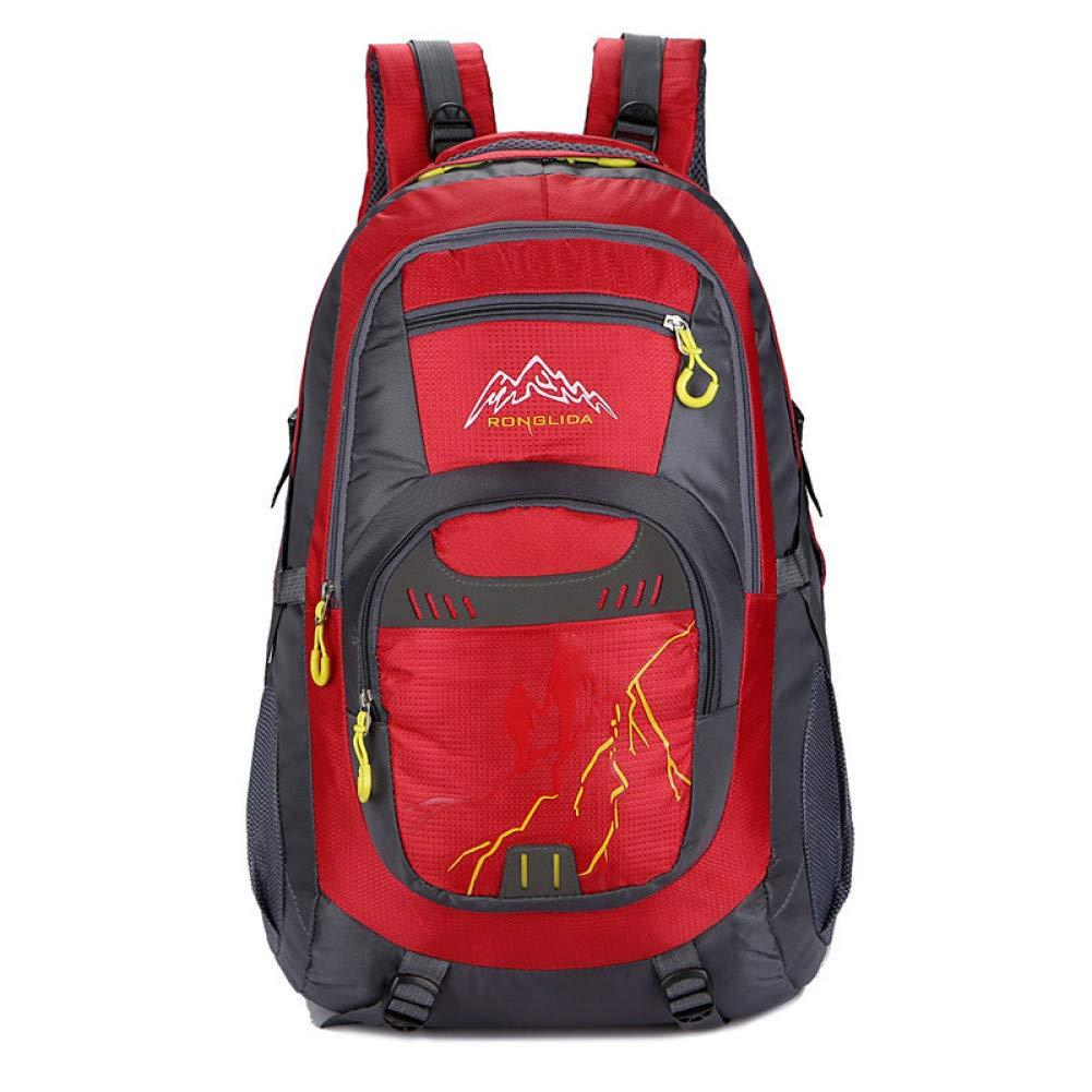 rouge  XXYQ Sacs à dos de randonnée Sac à Dos De Randonnée Sac à Dos en Nylon De Camping en Plein Air Imperméable