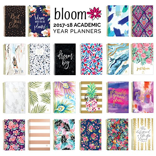 "2017-18 Academic Year Daily Planner - Passion/Goal Organizer - Monthly and Weekly Datebook and Calendar - August 2017 - July 2018 - 6"" x 8.25"" - Wildflowers Photo #8"
