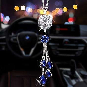 Crystal Swan Auto Car Mirror Pendant Car Interior Jewelry Decor Hanging Ornament