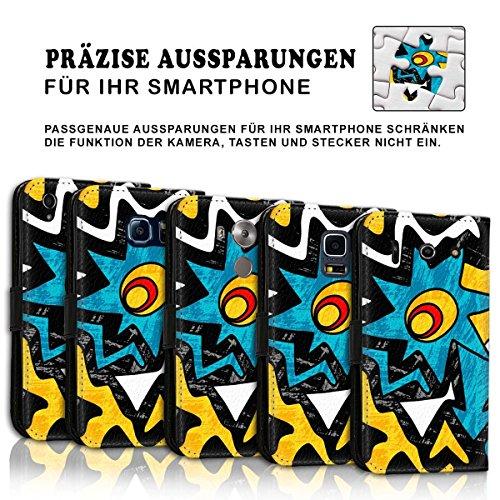 Wallet Book Style Flip Handy Tasche Case Schutz Hülle Schale Motiv Etui für Apple iPhone 5 / 5S - Design Flip MVD175
