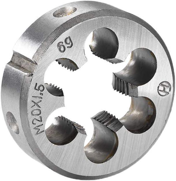 uxcell M20 X 1.5 Metric Round Die Machine Thread Die 45mm OD Round Threading Die Alloy Steel