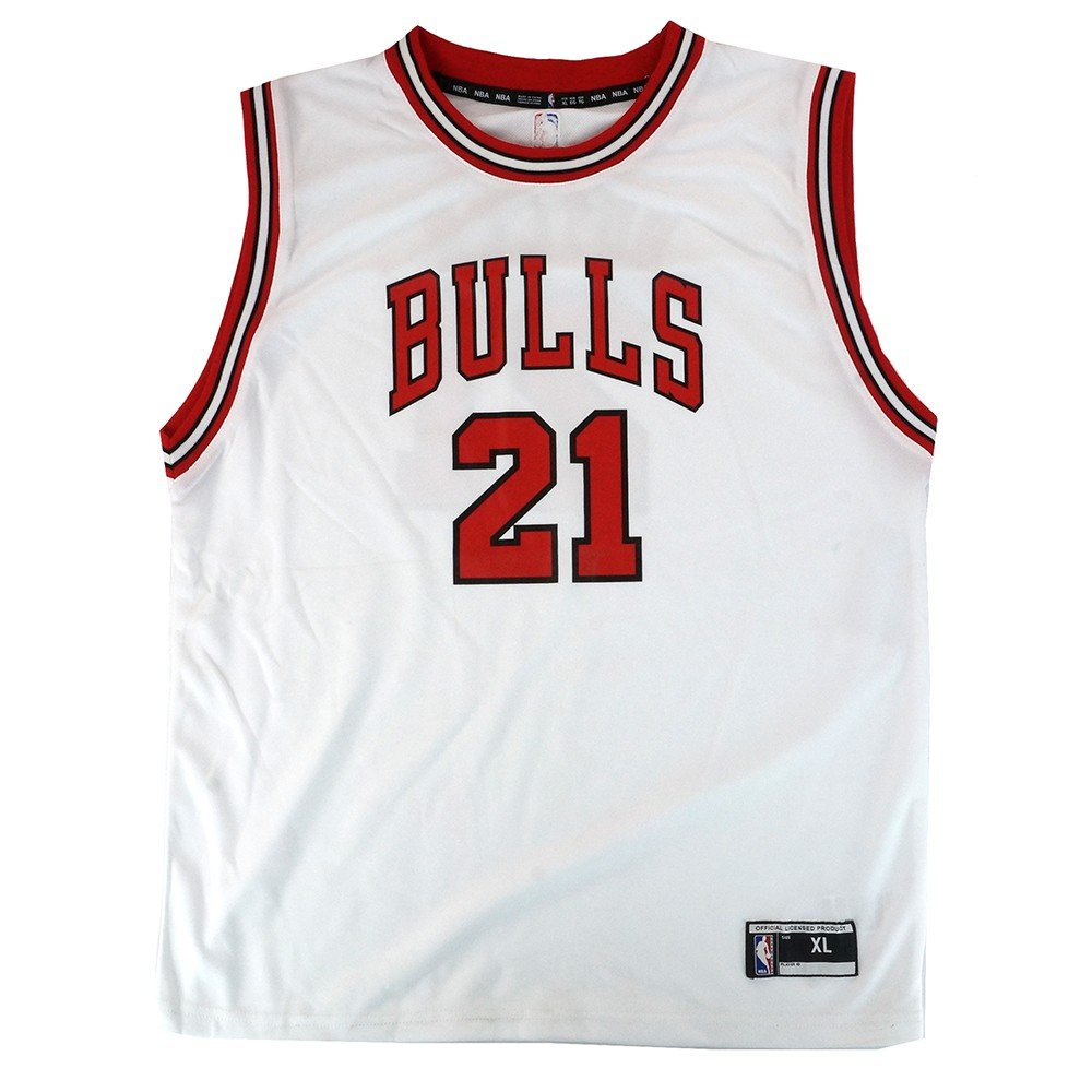 6680cfaa8ed Amazon.com   Outerstuff Jimmy Butler NBA Chicago Bulls Official Home White  Player Replica Jersey Youth   Sports   Outdoors