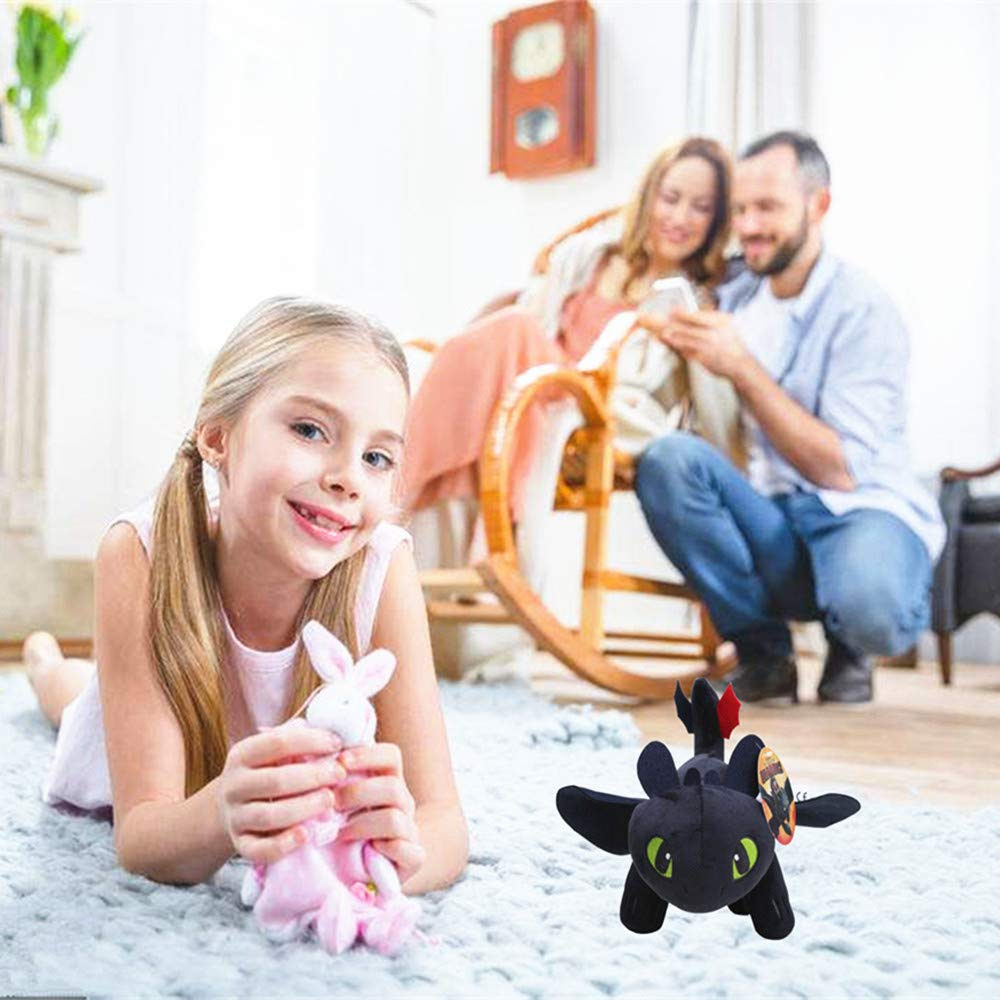 How to Train Your Dragon Night Fury Toothless Night Fury Stuffed Animal Plush Doll Toy Dragons Defenders of Berk 10inch