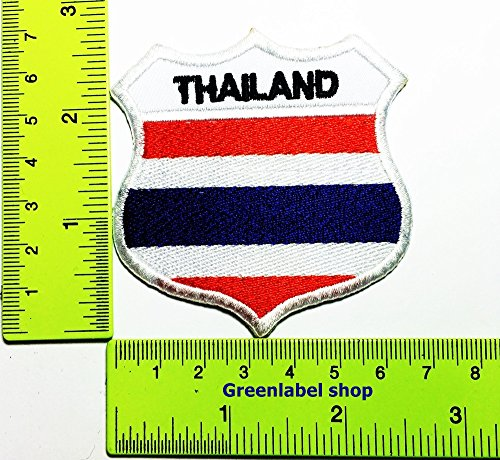 Each country's flag Thailand flag Patch Logo Sew Iron on Embroidered Appliques Badge Sign Costume Send Free Registration