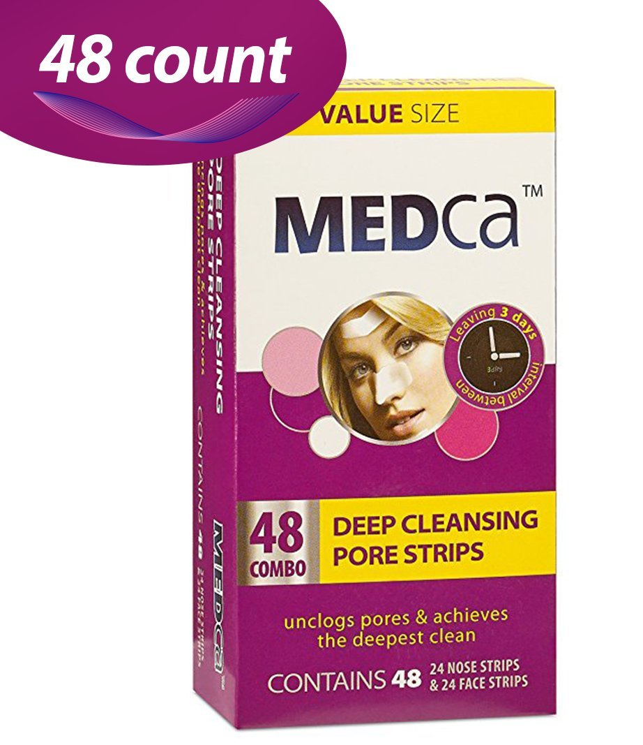 MEDca Deep Cleansing Pore Strips Combo Pack, 48 Count Strips by MEDca