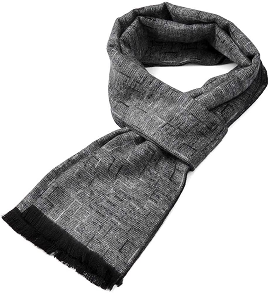 HOOXL Imitation Cashmere Fashion Warm MenS Plaid Scarf