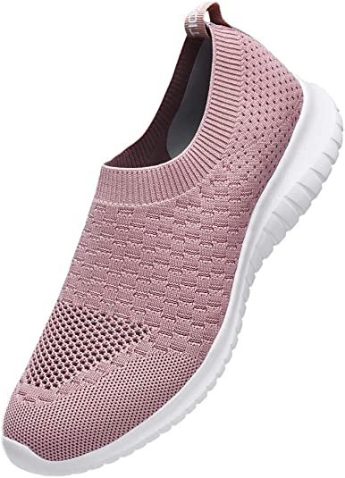 TIOSEBON Women's Walking Shoes Lightweight Breathable Yoga Travel Sneakers 5 US Mauve