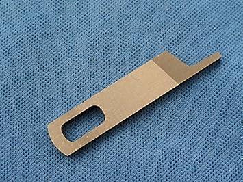 Cuchilla Superior De Máquina De Coser Remalladora Ajustará En Máquinas Singer 14u Cuchilla Número De Parte 412585000 Amazon Es Hogar