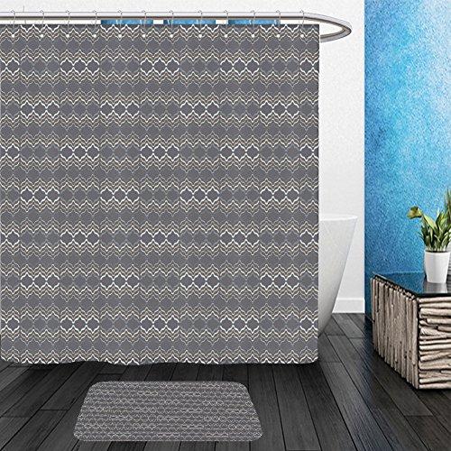 Vanfan Bathroom 2Suits 1 Shower Curtains & 1 Floor Mats ethnic boho seamless pattern print cloth design wallpaper 496526842 From Bath (Betty Boop Wedding)