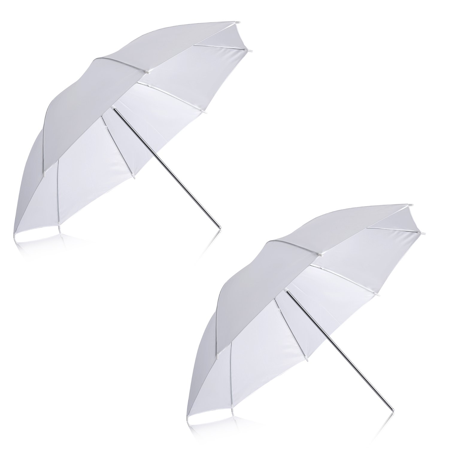 Neewer 2 Pack 33''/84cm White Translucent Soft Umbrella for Photo and Video Studio Shooting