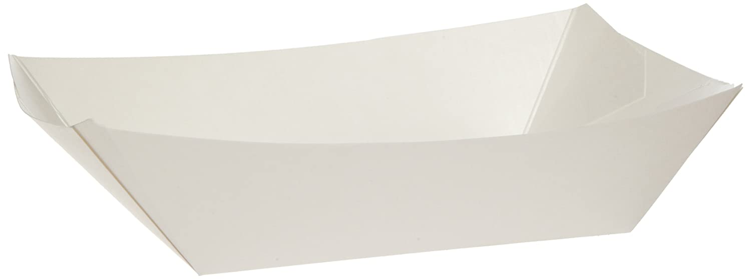 Dixie KL300W8 Kant Leek Polycoated Paper Food Tray, 3 Pound, White (Case of 500)