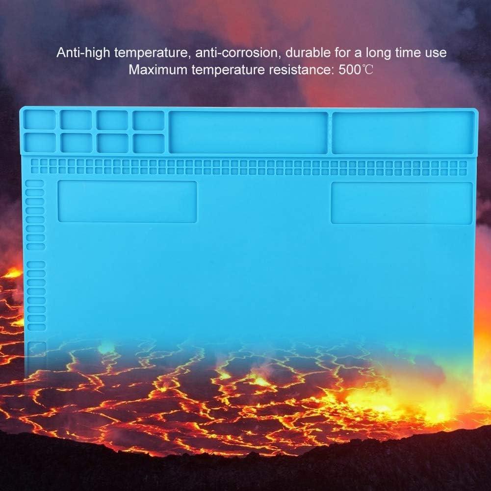 Kafuty 350 Azul Claro 250 mm Plataforma magn/ética Resistente al Calor Almohadilla de Aislamiento t/érmico Alfombrilla con Faja de Almacenamiento para el Mantenimiento de la computadora