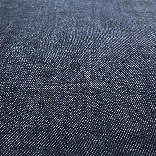 2 Way Stretch Denim Deep Blue B-10 2 way stretch 10 oz 56inch wide - Sold by the Yard (Dark Blue Cotton Upholstery)