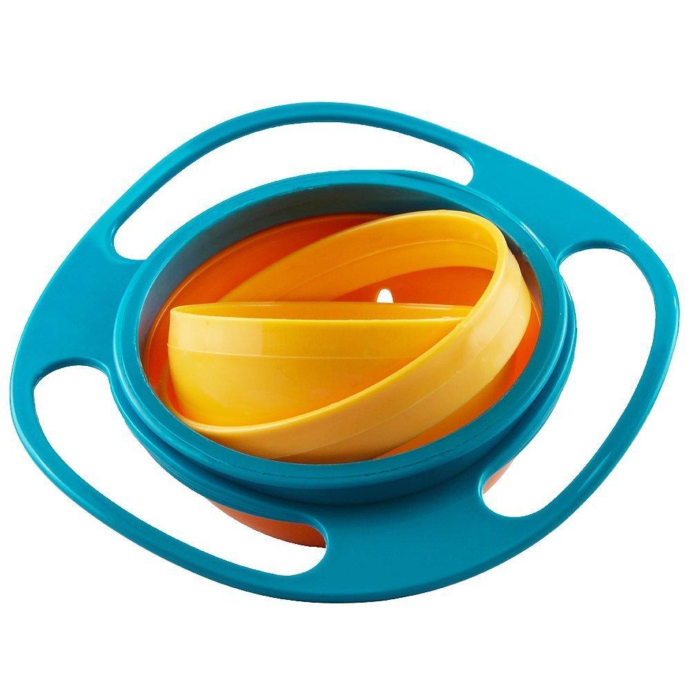 Jzhen Plato antiderrame Infantil Gyro Bowl para Bebé s Niñ os