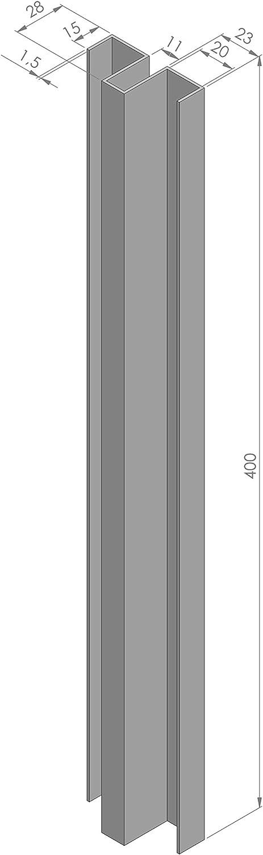 Manilla puerta corredera vidrio 10 mm. Tirador inoxidable TCBM-SD2 L=400 para pegar con silicona.: Amazon.es ...