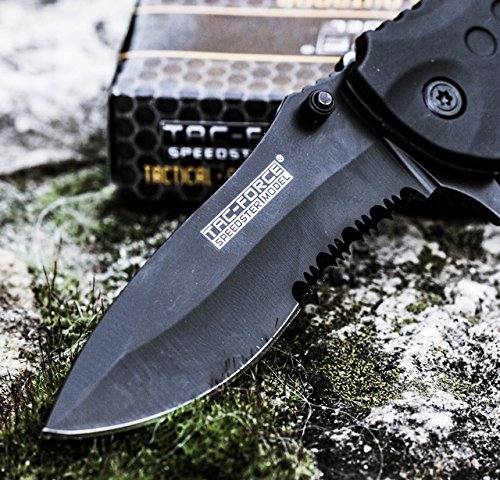 TAC-FORCE-BLACK-TACTICAL-Pocket-Knife-Folding-Blade-NEW