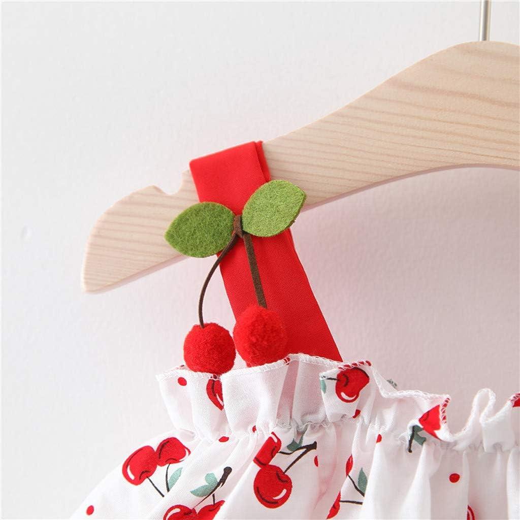 Berimaterry Vestido de Ni/ña Floral Bowknot Vestido de la Honda Princesa Vestido Bautizo Beb/é Ni/ñas Vestidos de Sin Manga Primavera Verano Ropa para 0-24 Meses