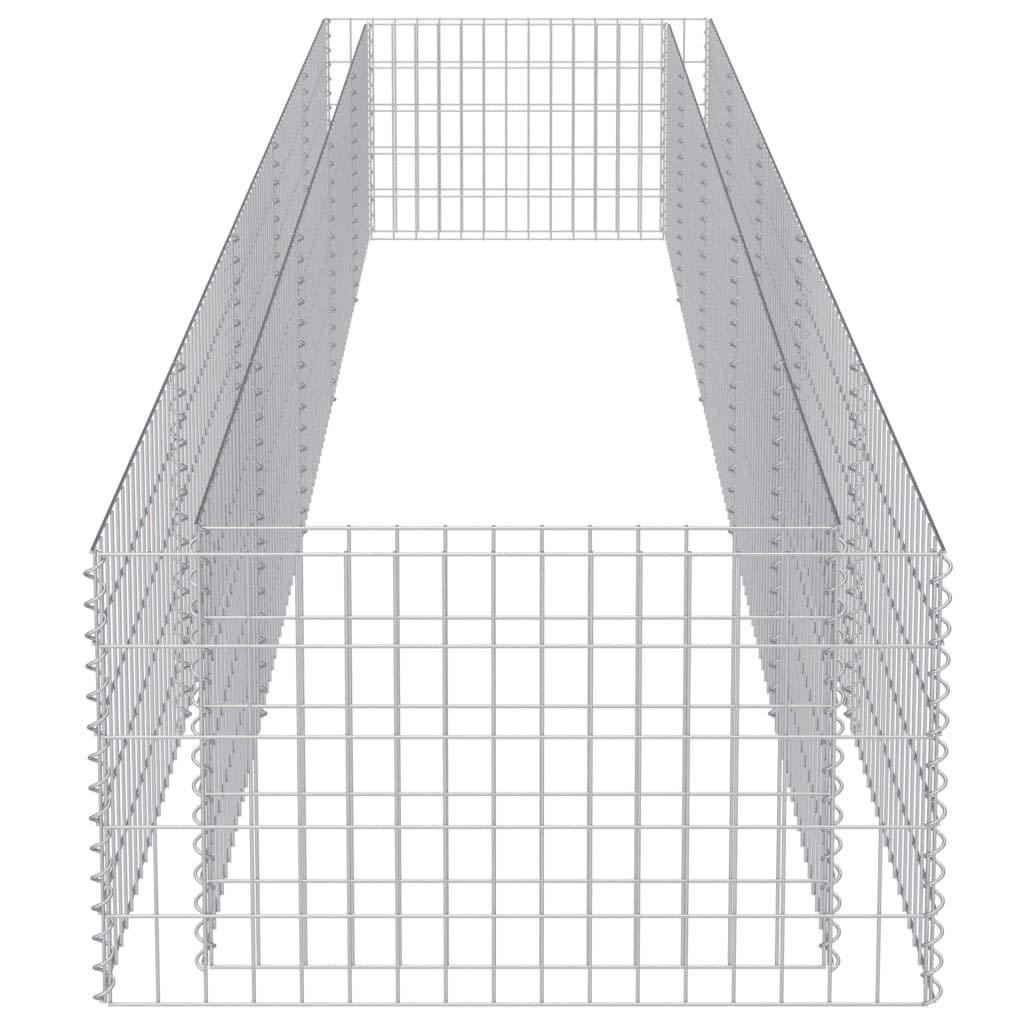 eckige Gabionenk/örbe 90/×90/×100 cm Gabione Pflanzenkorb Stahl bef/üllbare Steink/örbe f/ür St/ützmauern Gartenzaun Gabionenwand Mauer S/äule verzinkt