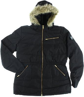 Realista Sensación Implacable  Amazon.com: adidas Womens Long Down Coat Black M32614 (Small): Clothing