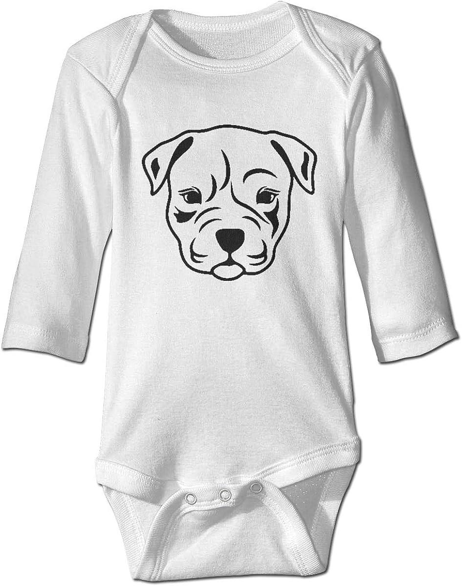 Marsherun Baby Boys Girls Pitbull Mama Dog Long Sleeve Climbing Bodysuits Playsuits