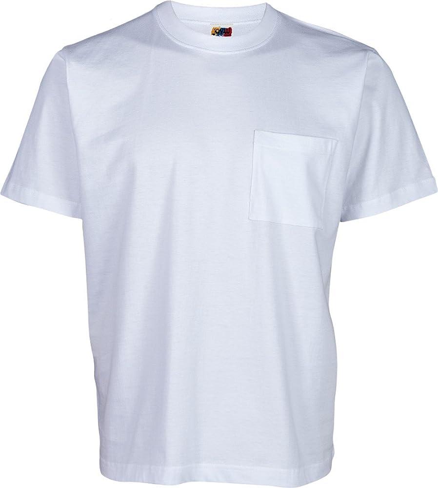 Camiseta con Bolsillo Hombre 100% ALGODÓN (S, Blanco): Amazon.es: Ropa y accesorios