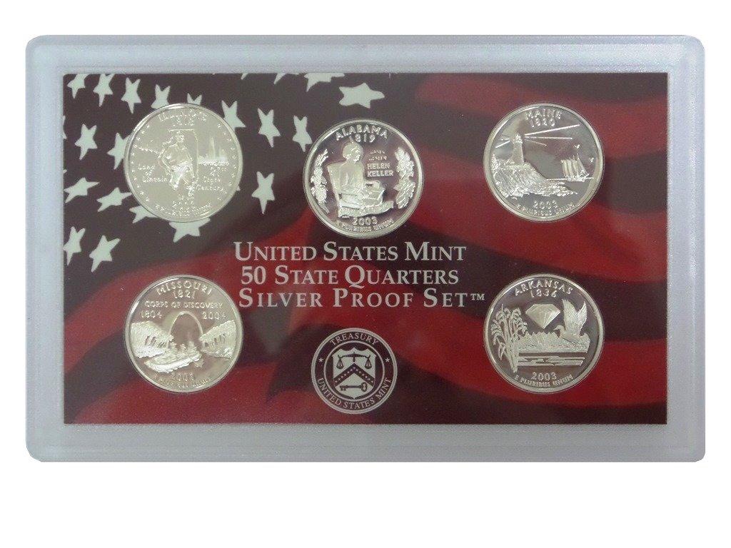 2003 S SILVER Proof State Quarter Set  No Box or Coa