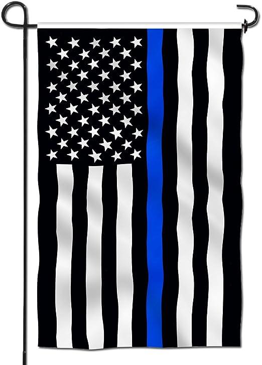 Anley Bandera de Jardín Premium de Doble Cara Delgada Línea Azul Estados Unidos - Banderas Decorativas de Jardín - Resistente al Clima y Doble Costura - 45 x 30 cm: Amazon.es: Jardín
