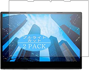 """【2 Pack】 Synvy Anti Blue Light Screen Protector Compatible with Dell Latitude 12 7000 Series 2-in-1 (7285) 12.3"""" Anti Glare Screen Film Protective Protectors [Not Tempered Glass]"""